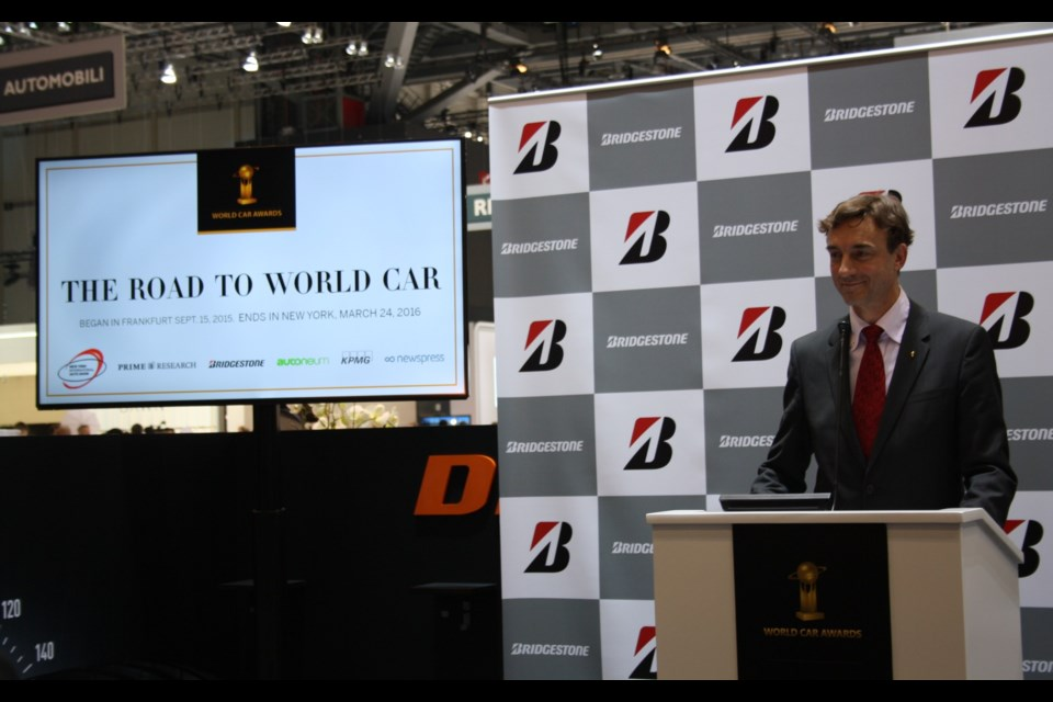 2016 World Car of the Year Awards at the Geneva Motor Show Credit Michel Deslauriers