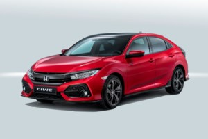 Here is the Production Version of the 2017 Honda Civic Hatchback