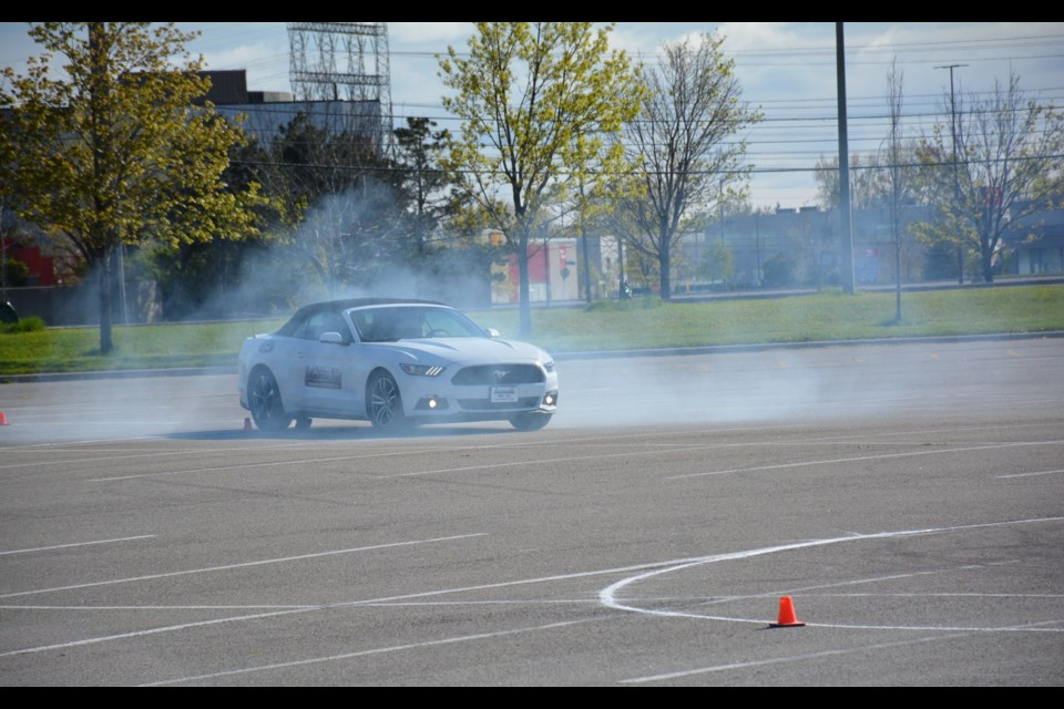 Ford teaches students Driving Skills for Life. Credit David Miller