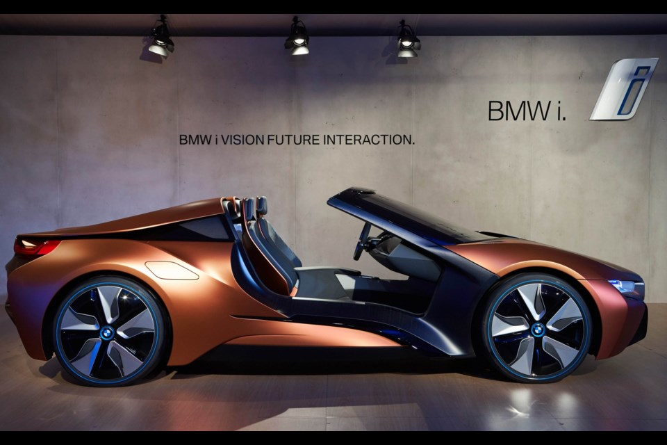 2018 bmw concept car. simple 2018 bmw i vision future interaction a foretaste of the i8 roadster credit  throughout 2018 bmw concept car