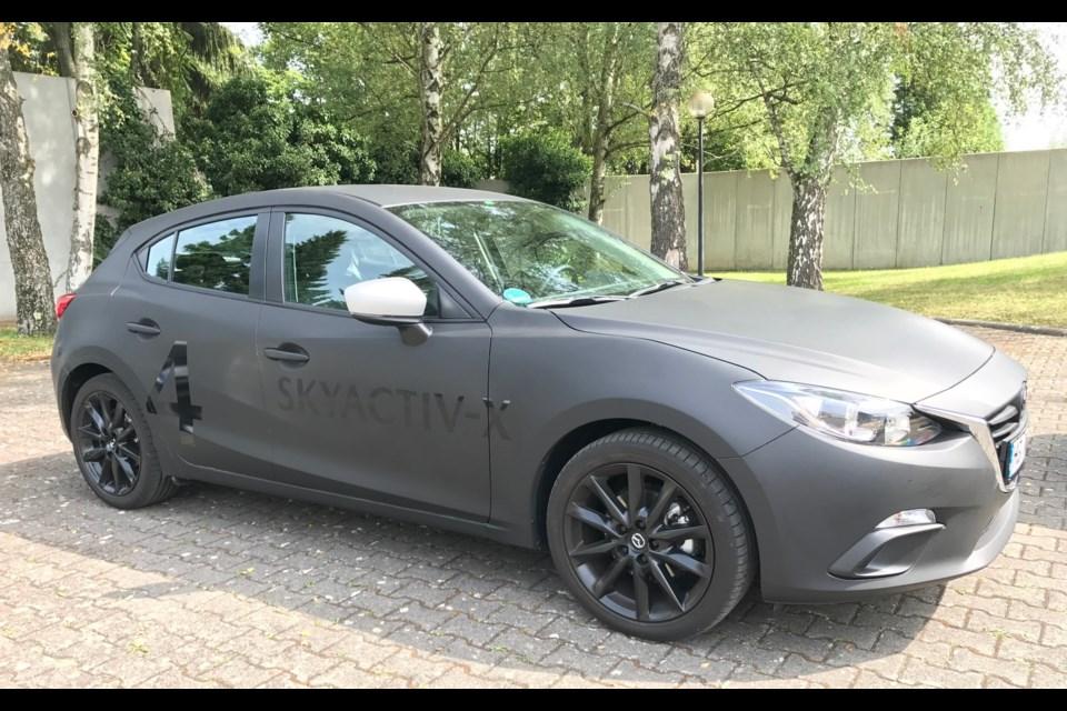 Mazda3 Sport prototype with SKYACTIV-X engine Credit Gabriel Gélinas