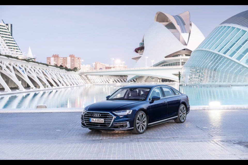 2019 Audi A8 - The fourth-generation A8 is the world's first production car capable of level 3 autonomous driving. Credit Audi AG