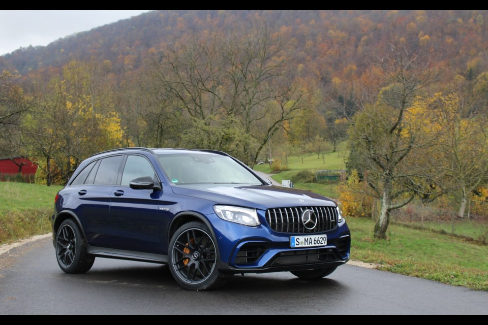 2018 mercedes amg glc 63 s 4matic the family missile for Compact mercedes benz crossword