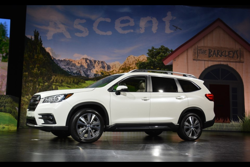 The all-new 2019 Subaru Ascent SUV. Credit David Miller