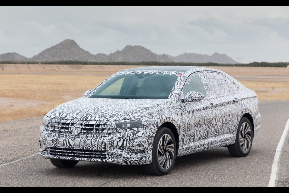 Camouflaged 2019 Volkswagen Jetta Credit Volkswagen