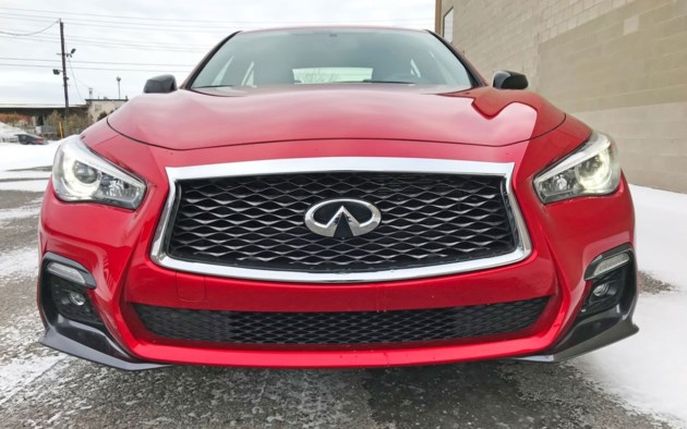 2018 infiniti q50 red sport 400 the underdog has bite for Compact mercedes benz crossword