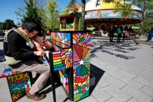 Striking a chord! Bostonians embrace pop-up painted pianos