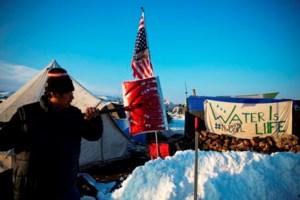 Veterans begin to assemble near Dakota Access protest camp