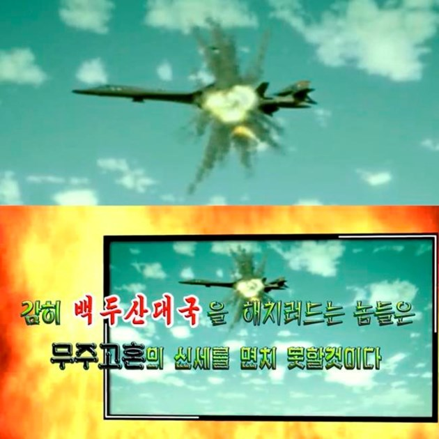 North Korea 'DESTROYS' US aircraft carrier and jets in terrifying propaganda video