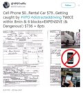 Hefty fines for cellphone-using driver ticketed twice in eight minutes