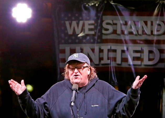 Noting that it's 'not at all presidential,' Trump attacks 'Sloppy Michael Moore'