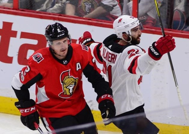 884d21768dc Hischier scores first NHL goal, Moore scores in OT as Devils beat Senators