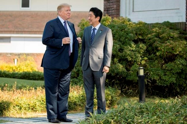 Donald Trump in China for talks on North Korea and trade
