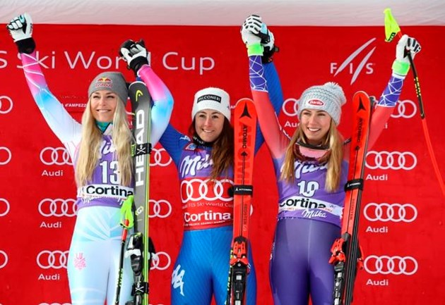 Goggia doubles up with home downhill win