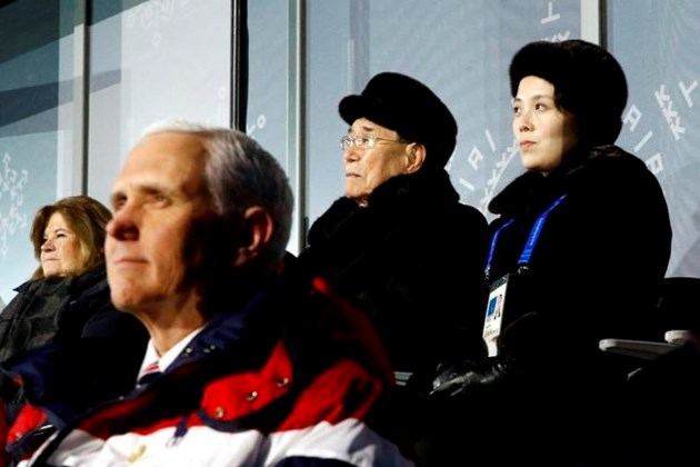 Pence skips Olympic dinner with North Koreans