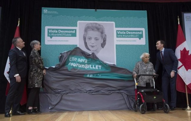 New $10 bill featuring civil rights activist Viola Desmond debuts today