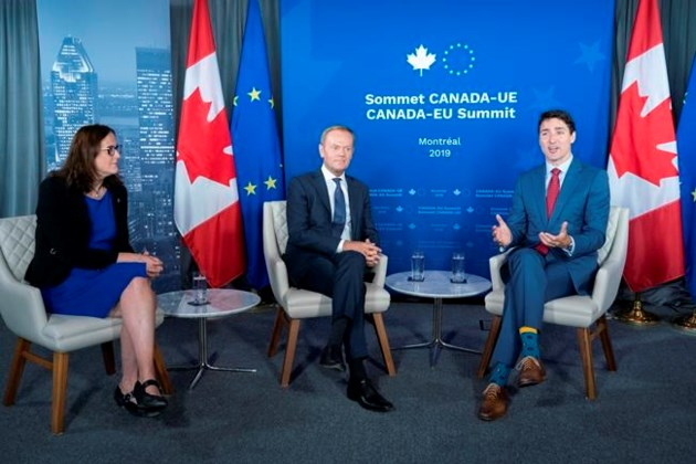 Trudeau calls out NDP over CETA as European summit wraps up