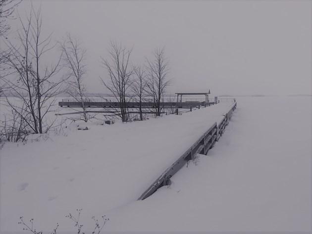 USED 2019-01-17goodmorning  1 Callendar dock in winter. Photo by Brenda Turl for BayToday.