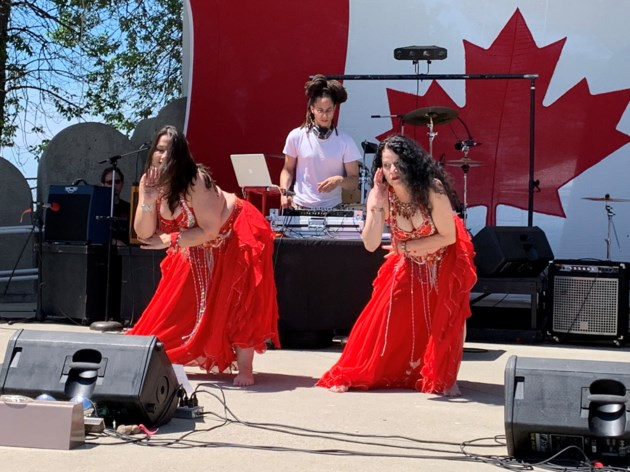 USED 2019-07-18goodmorningnorthbaybct  6 Belly dancers at the waterfront. Photo by Brenda Turl for BayToday.