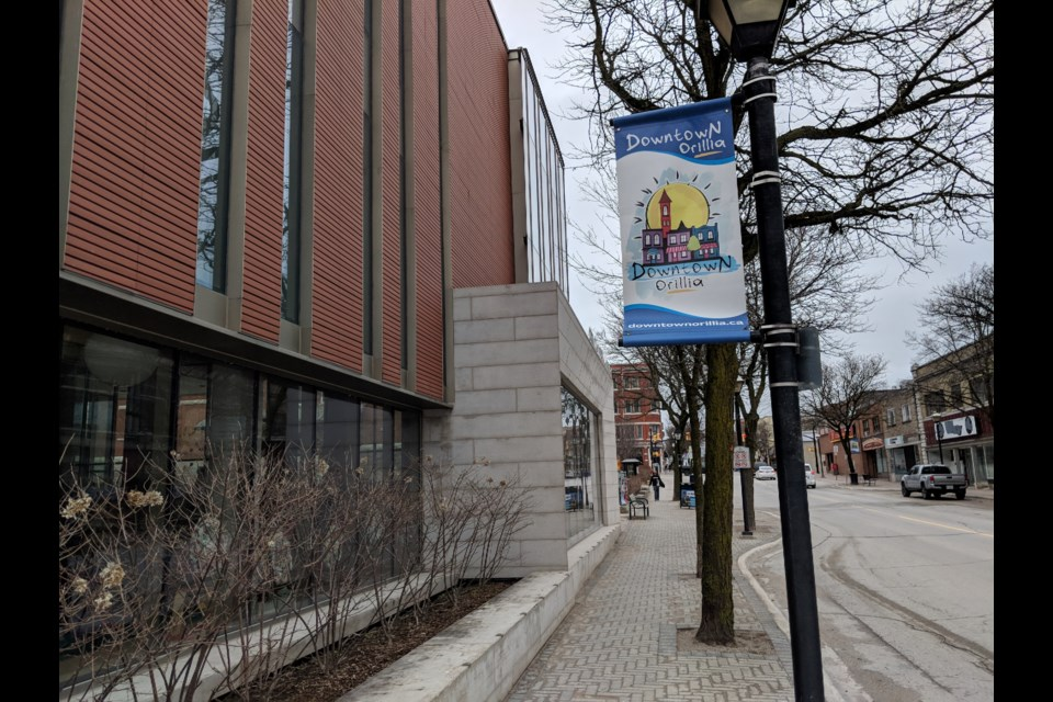 The Orillia Public Library, in the heart of downtown Orillia, is hoping to be able to restore interlibrary loans soon. Dave Dawson/OrilliaMatters