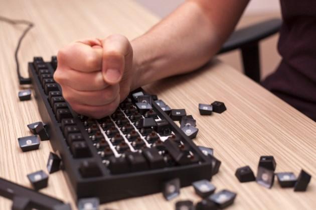 angry keyboard smash stock