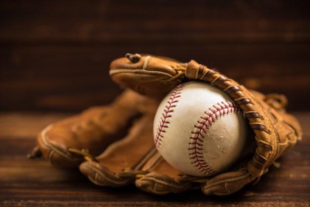 baseball globe and ball stock