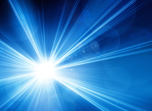 blue laser light