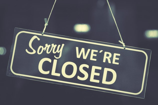 closed sign shutterstock