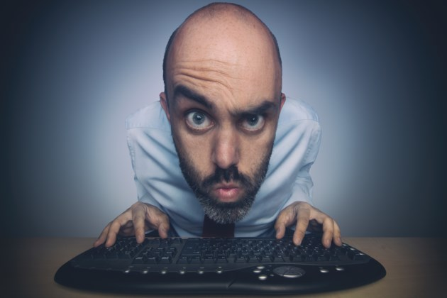 computer problem guy face stock