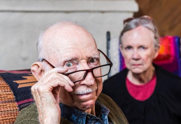 seniors not happy stock