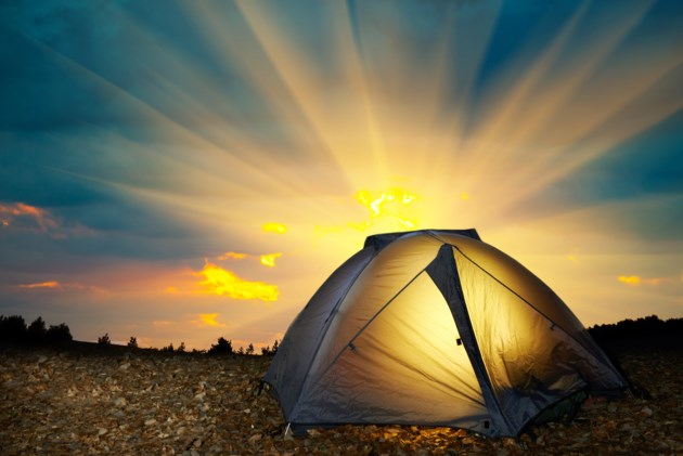 tent camping outdoors