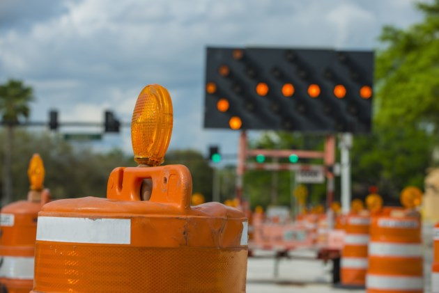 Road construction closure shutterstock