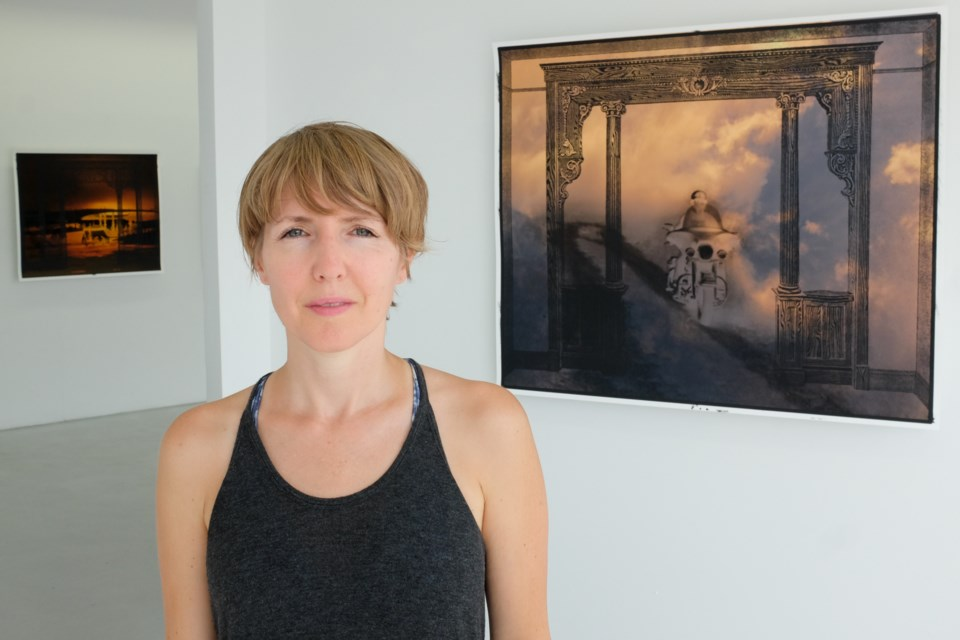 Local-born artist Monica Pitre's Cloud Walking exhibition is running at 180 Projects until September 12. The image to the right is 'Island Ride'. Jeff Klassen/SooToday
