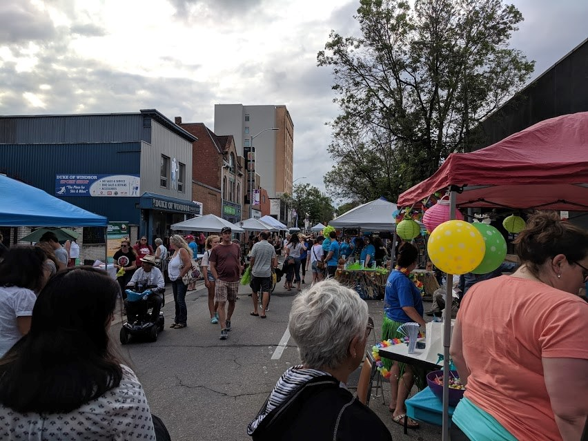 The Downtown Association hosts their Steet Party Thursday filling Queen St. with local bands, food, vendors and hotrods