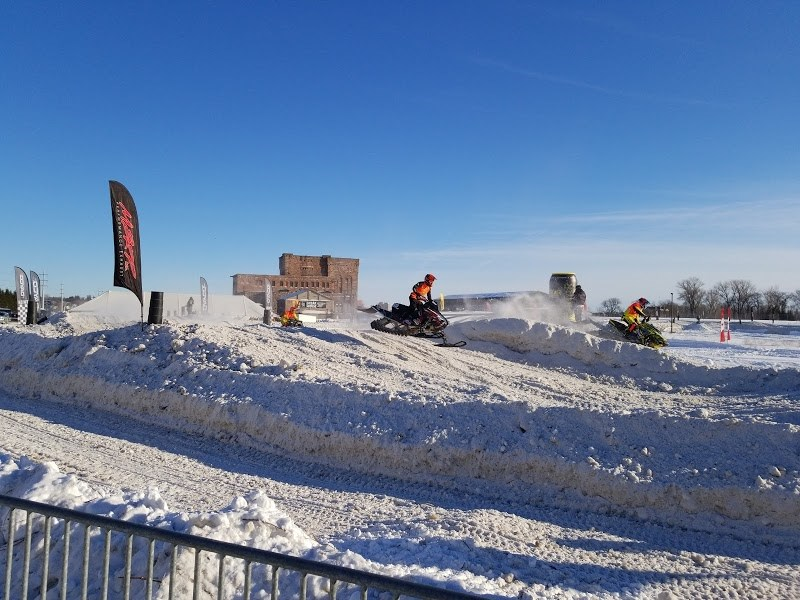 The Rockstar Energy Can/Am International Snowcross is being held at The Yard this weekend featuring races of multiple skill levels Saturday and Sunday