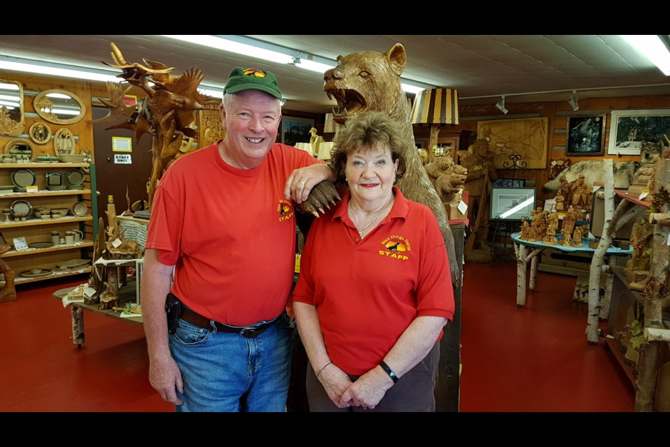 Jerry and June Demers are selling Agawa Crafts and The Canadian Carver after 48 years in business. Photo supplied by Jerry and June Demers