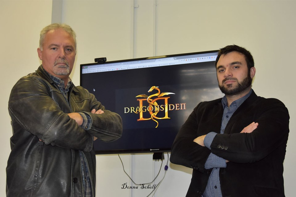 Bill Betournay, left, and business partner, Jeff Greco will appear on CBC's 'Dragon's Den' on Oct. 25. Donna Schell for SooToday