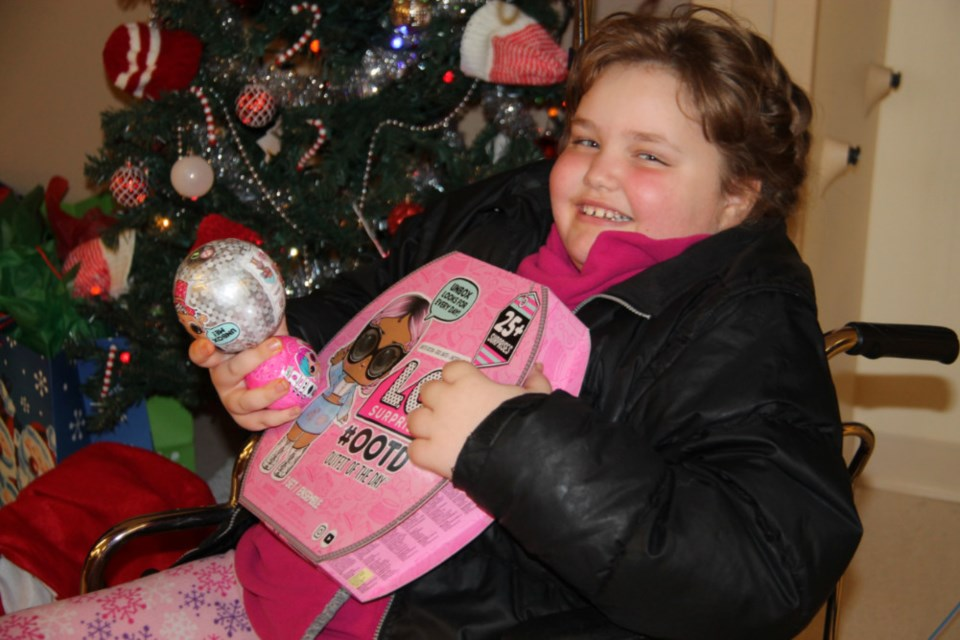 489448357d4b3 Leia Raginskis received an iPad and other gifts for Christmas from Sault  mothers Amanda Johnston and