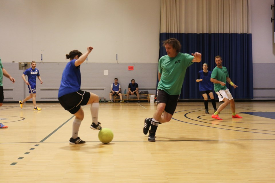 A dozen soccer teams competed in the 2nd annual '3 On 3 for NRC' tournament Sunday. The event, organized by the public relations and event management program at Sault College, raises funds for the Neighbourhood Resource Centre on Gore Street. James Hopkin/SooToday