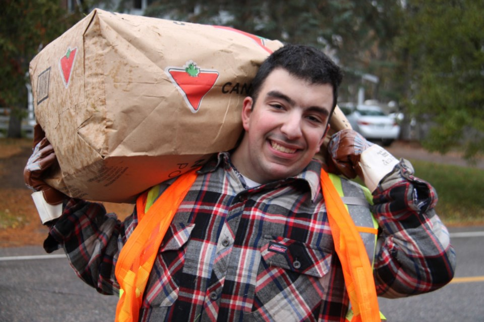 Sault College student Vince Coccimiglio enjoyed participating in the annual United Way and Sault College Trades Day of Caring event, Oct. 27, 2018. Darren Taylor/SooToday