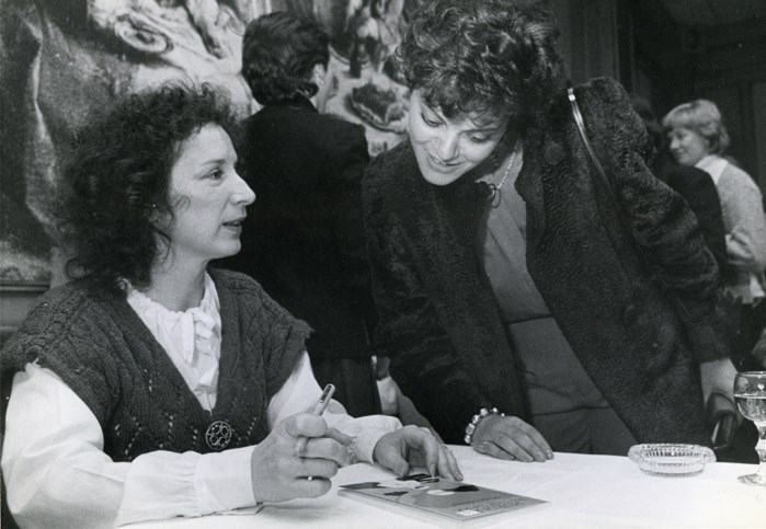 Margaret Atwood is pictured during a reading and author visit at Korah Collegiate in 1983. Sault Ste. Marie Public Library archive photo