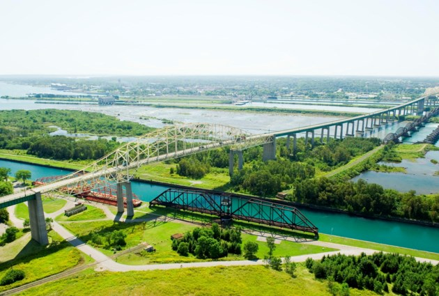 Sault Ste. Marie Canal and International Brige_0