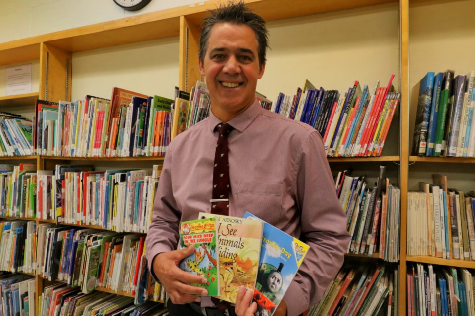 Parkland Public School principal Maurice Dugas says Indigo's Adopt a School program has helped raise enough funds for nearly 300 books for the school's library. James Hopkin/SooToday