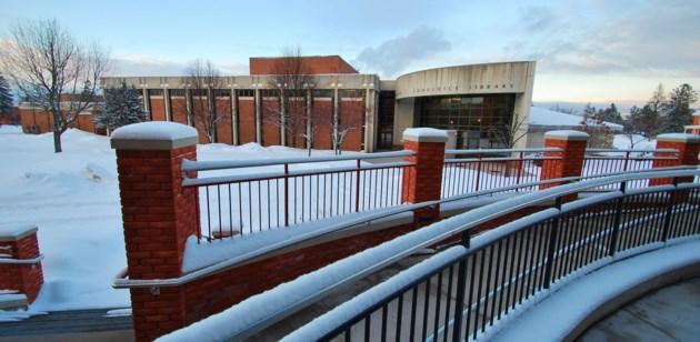 Lake Superior State University campus winter