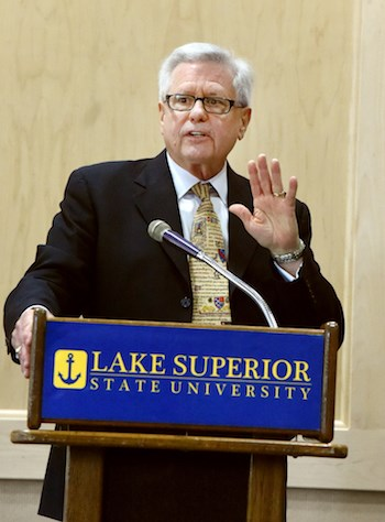 Peter mitchell comes on board as lssu interim president for College motors albion mi