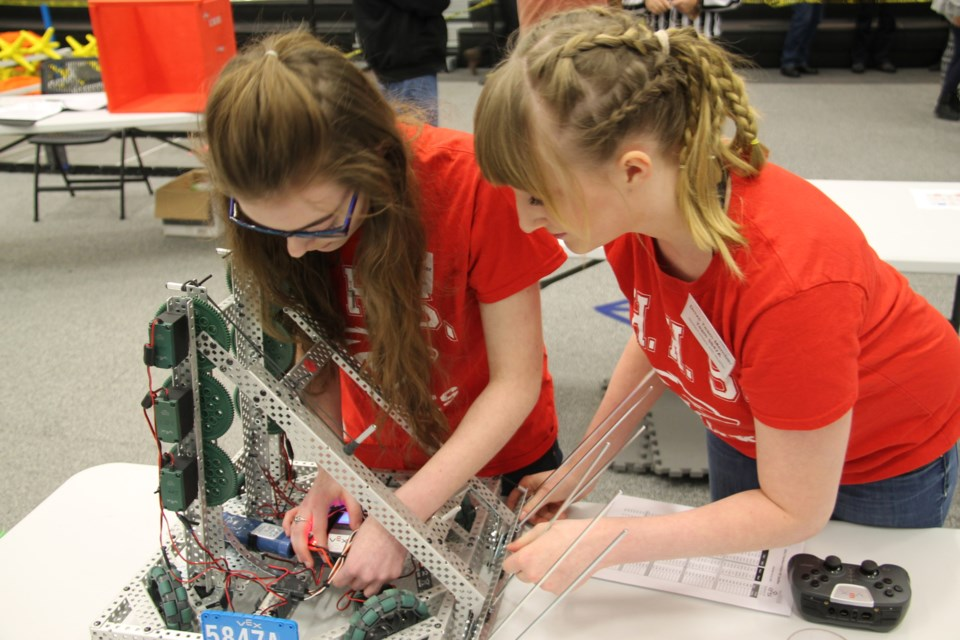 Teens from Sault and area high schools competed in robotics event; winners go on to provincial, possibly world championships, Dec. 10, 2016. Darren Taylor/SooToday