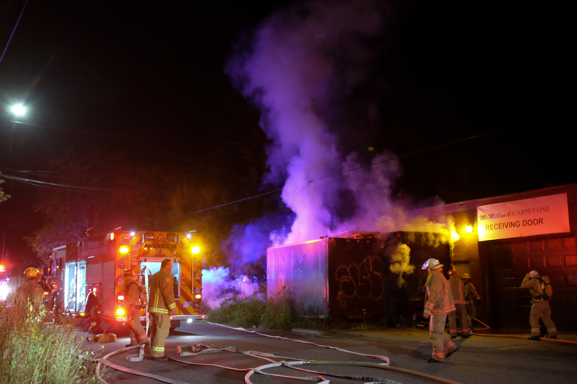 A fire occurred just off of Edinburgh street just behind McMillan Carpet One Floor u0026 & Storage unit fire behind carpet store police investigating (9 ...
