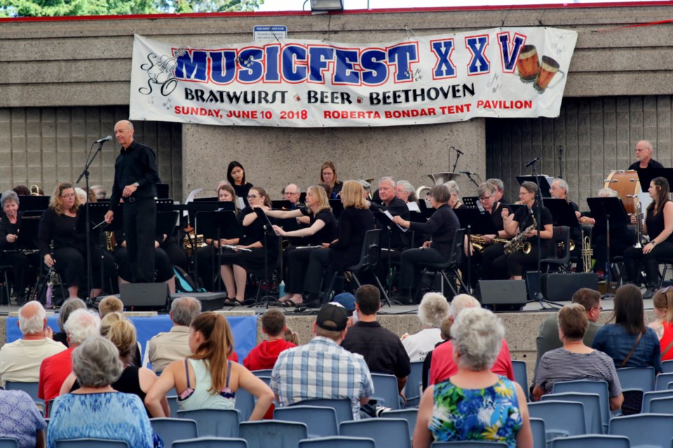A number of musical acts took to the stage at the Roberta Bondar Pavilion for Musicfest XXV: Bratwurst, Beer & Beethoven. James Hopkin/SooToday