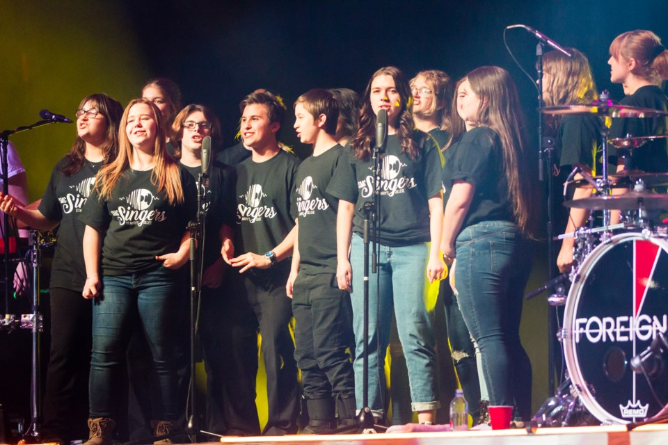 The St. Mary's College choir sang 'I Wanna Know What Love Is' with Foreigner at the GFL Memorial Gardens on Tuesday, March 5, 2019. Donna Hopper/SooToday