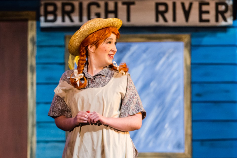 Moira Boucher as Anne Shirley in the Musical Comedy Guild's production of 'Anne of Green Gables' at the Sault Community Theatre Centre on Wednesday, Nov. 22, 2017. Donna Hopper/SooToday